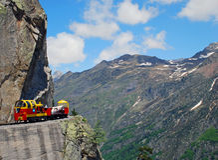 artouste frachtowy kolei pociąg Zdjęcie Royalty Free