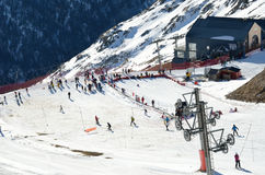 Artouste ski resort in the French Pyrenees Stock Photo