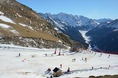 Artouste ski resort in the French Pyrenees Stock Photos