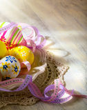 Artr easter eggs royalty free stock photography