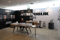 Artrepublik Gallery At Singapore Affordable Art Fair 2017 Stock Photos