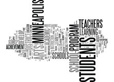 Arts For Academic Achievement Help Students In Minneapolis Schools Word Cloud Concept. Arts For Academic Achievement Help Students In Minneapolis Schools Text Royalty Free Stock Images