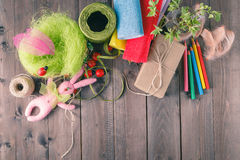 Free Arts And Craft Supplies. Stock Photo - 66732580