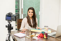Free Arts And Crafts Video Blogger At Work Stock Images - 88279294