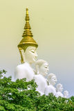 The arts & architecture. Five buddha in  petchaboon thailand Stock Image