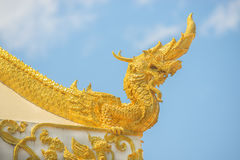 Arts of Buddhism - King of Naga statue in Thailand temple Royalty Free Stock Images