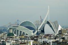 arts city de el les贝劳女王索非亚巴伦西亚 免版税图库摄影
