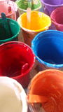 Colors arts. Contrast colors for painting silkscreen Stock Image