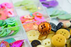 Arts and craft buttons 1 Stock Photography