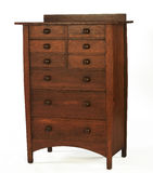 Arts and Craft Era oak dresser Stock Photos