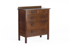 Arts and Craft Era oak dresser Stock Image