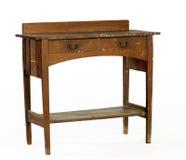 Arts and Craft Era oak writing desk Stock Photos