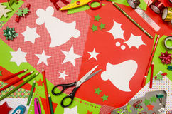 Arts and craft supplies for Christmas. Stock Photography