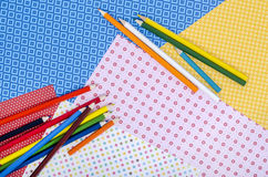 Arts and craft supplies. Royalty Free Stock Photography