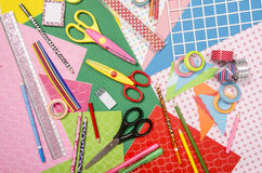 Arts and craft supplies. Stock Photos