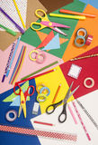 Arts and craft supplies. Royalty Free Stock Image