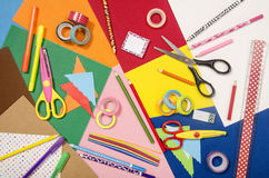 Arts and craft supplies. Stock Images