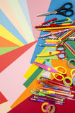Arts and craft supplies. Stock Image