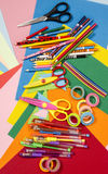 Arts and craft supplies. Stock Photography
