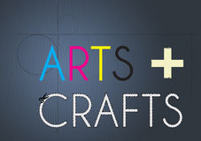 Arts and Crafts royalty free illustration