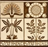Arts & Crafts Antique Tile Royalty Free Stock Photography