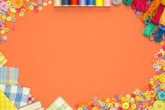 Arts and Crafts background with copy space Stock Images
