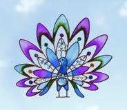 Arts and crafts bird Stock Image