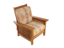 Arts and Crafts Chair. Comfortable arts and crafts style living room chair Royalty Free Stock Photo