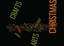Arts And Crafts For Christmas Word Cloud Concept Royalty Free Stock Photos