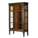 Arts and Crafts Glass Doored Bookcase stock image