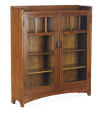 Arts and Crafts Glass Doored Bookcase Royalty Free Stock Image
