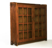 Arts and Crafts Glass Doored Bookcase Royalty Free Stock Photos