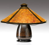 Arts and Crafts Mica Shade Table Lamp Stock Photo