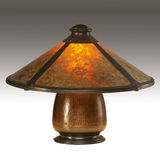 Arts and Crafts Mica Shade Table Lamp Stock Images