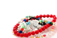 Arts and Crafts multi-colored Beads Stock Photo