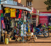 Arts and Crafts shop. Jinja, Uganda -September 2015 - An arts and crafts shop on Jinja main street. The eastern town is filled with such shops because the town Royalty Free Stock Photography