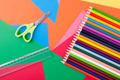 Arts and Crafts Supplies Royalty Free Stock Photo