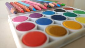 Arts and crafts supply. Art& x27;s and crafts supply Royalty Free Stock Photo