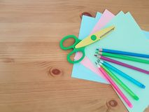 Arts and Crafts Supply, Kids Crafts, Back To School, School Supplies stock photos