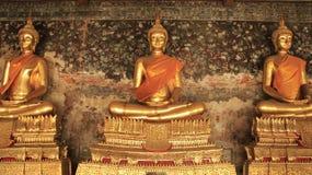 Arts d'or et sculpture de Buddhas thaïlandais Photos libres de droits