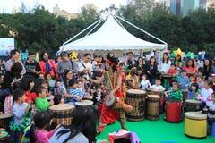 Arts dans l'événement de Mardi Gras de parc en Hong Kong Photos stock