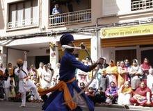 Arts de combat sikhs indiens 06 Image stock