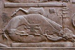 Arts de pharaons au temple de Luxpr Photographie stock libre de droits