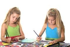 Arts de soeurs et sourire de métier Images libres de droits