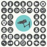 Arts- der Sicherheitsleistungikonen eingestellt Lizenzfreie Stockfotos