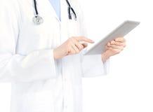 Arts die op Appel iPad2 betrekking heeft Stock Afbeelding