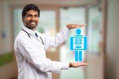 Arts die x-ray concept voorstellen stock afbeelding