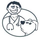 Arts en geduldige hond Stock Afbeeldingen