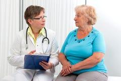 Arts en Patiënt royalty-vrije stock foto