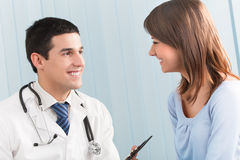 Arts en patiënt Stock Afbeelding